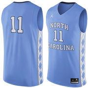 Men's Nike #11 Carolina Blue North Carolina Tar Heels Replica Jersey
