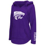 Women's Colosseum Purple Kansas State Wildcats Walkover V-Neck Hoodie