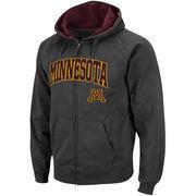 Men's Stadium Athletic Charcoal Minnesota Golden Gophers Arch & Logo Full Zip Hoodie