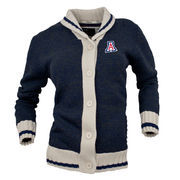 Women's Renu Navy Arizona Wildcats Button-Up Sweater Cardigan