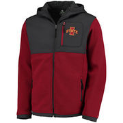 Men's Colosseum Cardinal/Charcoal Iowa State Cyclones Miramar Full-Zip Jacket