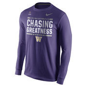 Men's Nike Purple Washington Huskies 2016 College Football Playoff Bound Chasing Greatness Long Sleeve T-Shirt