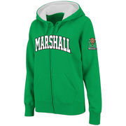 Women's Stadium Athletic Kelly Green Marshall Thundering Herd Arched Name Full-Zip Hoodie