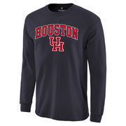 Men's Fanatics Branded Navy Houston Cougars Campus Long Sleeve T-Shirt