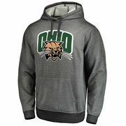 Men's Gray Ohio Bobcats Performance Pullover Hoodie