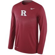 Men's Nike Red Rutgers Scarlet Knights 2015 Sideline Dri-FIT Legend Long Sleeve Performance T-Shirt