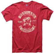 Maryland Terrapins Heathered Red Rockers Ringspun T-Shirt