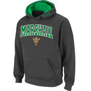 Men's Stadium Athletic Charcoal Marshall Thundering Herd Arch & Logo Pullover Hoodie