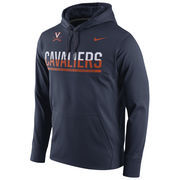 Men's Nike Navy Virginia Cavaliers Circuit Pullover Performance Hoodie