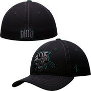Mens Ohio Bobcats Zephyr Black Basic Element Flex Hat