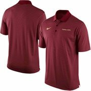 Men's Nike Garnet Florida State Seminoles Stadium Stripe Performance Polo