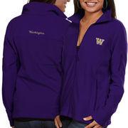Columbia Washington Huskies Women's Logo Give & Go Fleece Full Zip Jacket - Purple