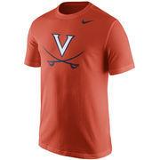 Men's Nike Orange Virginia Cavaliers Logo T-Shirt