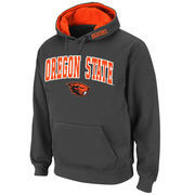 Men's Stadium Athletic Charcoal Oregon State Beavers Arch & Logo Pullover Hoodie