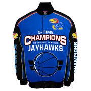 Men's Royal Kansas Jayhawks Commemorative Twill Jacket