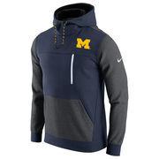 Men's Nike Navy/Charcoal Michigan Wolverines AV15 Fleece Pullover Hoodie