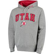 Men's Gray Utah Utes Arch & Logo Pullover Hoodie
