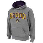 Men's Stadium Athletic Gray East Carolina Pirates Arch & Logo Pullover Hoodie