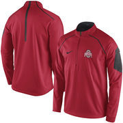 Men's Nike Red Ohio State Buckeyes 2015 Coaches Sideline Alpha Fly Rush 1/4 Zip Performance Jacket