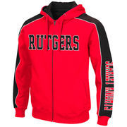 Men's Colosseum Scarlet/Black Rutgers Scarlet Knights Thriller II Full-Zip Hoodie