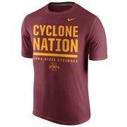 Men's Nike Crimson Iowa State Cyclones Local Verbiage Dri-FIT Legend T-Shirt