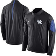 Men's Nike Black Kentucky Wildcats 2015 Football Coaches Sideline Half-Zip Wind Jacket