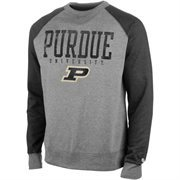 Mens Purdue Boilermakers Alta Gracia (Fair Trade) Charcoal/Gray Ramon Raglan Pullover Sweatshirt