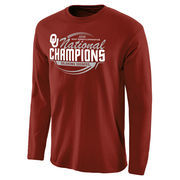 Men's Crimson Oklahoma Sooners 2016 NCAA Women's Gymnastics National Champions Long Sleeve T-Shirt