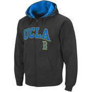 Men's Stadium Athletic Charcoal UCLA Bruins Arch & Logo Full Zip Hoodie