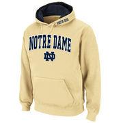 Men's Stadium Athletic Gold Notre Dame Fighting Irish Arch & Logo Pullover Hoodie