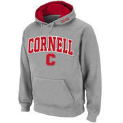 Men's Stadium Athletic Gray Cornell Big Red Arch & Logo Pullover Hoodie