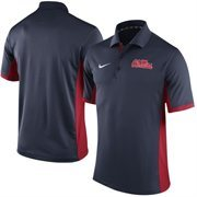 Men's Nike Navy Ole Miss Rebels Team Issue Performance Polo
