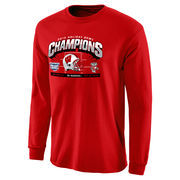 Men's Red Wisconsin Badgers 2015 Holiday Bowl Champions Hash Mark Long Sleeve T-Shirt