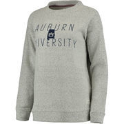 Women's Cream Auburn Tigers Comfy Terry Crew Sweatshirt