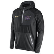 Men's Nike Black Washington Huskies 2016 Sideline Vapor Fly Rush Half-Zip Pullover Jacket
