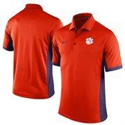 Men's Nike Orange Clemson Tigers Team Issue Performance Polo
