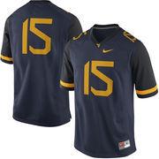 Nike West Virginia Mountaineers #15 Game Football Jersey - Navy Blue