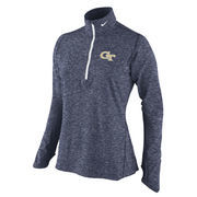 Women's Nike Navy Georgia Tech Yellow Jackets Element Quarter-Zip Pullover Jacket