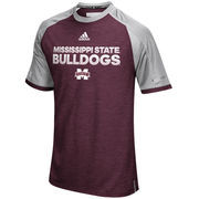Men's adidas Maroon Mississippi State Bulldogs 2016 Sideline climalite Top