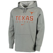 Men's Nike Heather Gray Texas Longhorns Circuit Therma-FIT Performance Hoodie