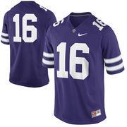 Nike Kansas State Wildcats #16 Game Football Jersey - Purple