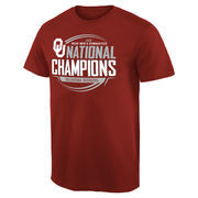 Men's Crimson Oklahoma Sooners 2016 NCAA Men's Gymnastics National Champions T-Shirt