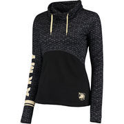 Women's Colosseum Black Army Black Knights Scaled Cowl Neck Pullover Hoodie
