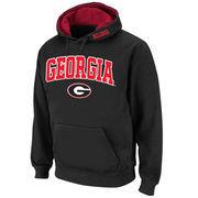 Men's Stadium Athletic Black Georgia Bulldogs Arch & Logo Pullover Hoodie