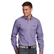 Men's Antigua Purple LSU Tigers Associate Woven Long Sleeve Button-Down Shirt