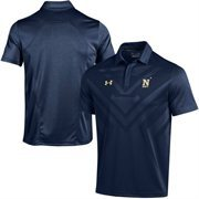 Men's Under Armour Navy Navy Midshipmen 2015 Coaches Sideline Scout Polo