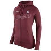 Women's Nike Crimson Washington State Cougars Stadium Game Day KO Full Zip Therma-FIT Hoodie