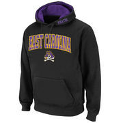 Men's Stadium Athletic Black East Carolina Pirates Arch & Logo Pullover Hoodie