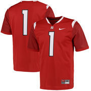 Nike Rutgers Scarlet Knights #1 Game Football Jersey - Scarlet
