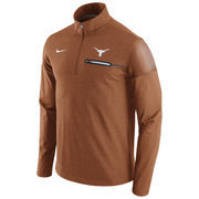 Men's Nike Heathered Texas Orange Texas Longhorns 2016 Elite Coaches Dri-FIT 1/2 Zip Jacket